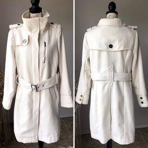 Worthington Winter Jacket White Belted XL